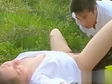 Charming honey Manami Amamiya bends down for sex