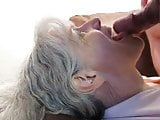Gray Haired Mature Blow Job