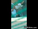 Hidden cams fuck in the yard