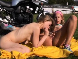 Hard lesbian squirt xxx Young lesbian biker girls