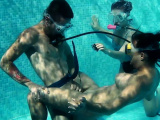 Candy Mike and Lizzy super hot underwater threesome