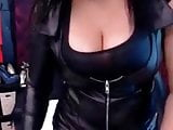 Sexy long nails and boobs
