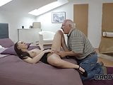 Old Fat Grandfather fucks his Sons Wife