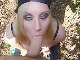 First Time Outdoor BJ scene
