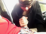 Amateur teen gives a public blowjob in the car - MaryVincXXX