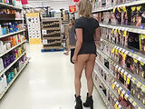 Shes wearing that into Walmart? Milf nude in public