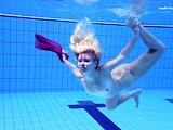 Elena Proklova underwater mermaid in pink dress