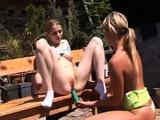 Japan lesbian groping train Kate & Tanya in the sun