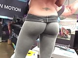 Fitness expo ass candid sexy girl tight