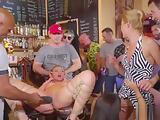 Serbian submissive slave fucked in public