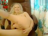 Blonde Melona hard fucks herself