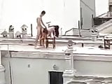 public fucking on the roof of the neighboring house