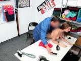 Brunette shoplifter Ellie Eilish gets a hot punishment