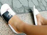 Candid ebony bbw feet