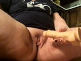 Mature BBW wife masturbating close up