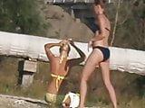 Girls on beach 90