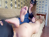 Foot smelling handjob FOOT WORSHIP
