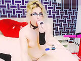 Sapphicblondes plays with sex machine and vibrators