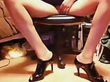 Playing in tie-up high heels and skirts 3