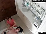 Female massage on hidden camera