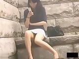 Japanese no panties under skirt 33-03
