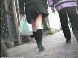 Pursuit Upskirt Of Bicycle Girls