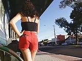 Hot bitch girl w red short