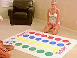 Beautiful young blondies playing Twister