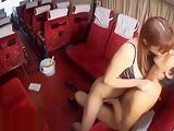 Japanese horny teacher wants fuck on the bus
