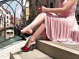 dangling shoes