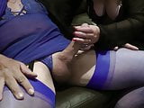 blue lingerie blowjob crossdresser
