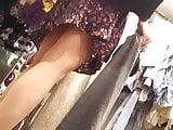 Gf sexy shoe shopping upskirt, sexy legs