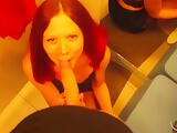 Blowjob and sex with redhair beauty in the shopping centres dressing room