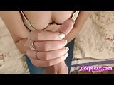 Girlfriend awesome handjob