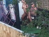Grandma and Grandpa caught fucking in the garden