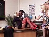 Sex Education in Big Tits Hot Teen Schoolgirls Class Orgy