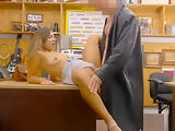 Perky tits woman drilled by pawn keeper