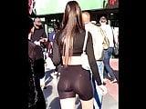 See Through Leggings (Spandex) Shorts White THONG