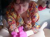 Handjob With Pink Latex Gloves - TacAmateurs