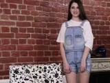 Adorable Nataha Normalek undresses to masturbate