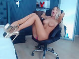 Beautiful blonde teasing on cam