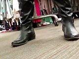 Leggings & Leather OTK Boots