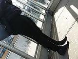 Milf with big ass at bus stop 3