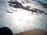 Topless Teens on Blind Creek Beach Get Dressed to Leave