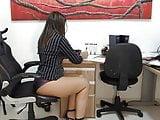 Short Skirt In The Office 13
