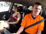 Fake Driving School Curvy brunette Sofia Lee