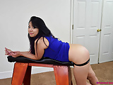 Asian Hottie Gets Strapped! - Spanking