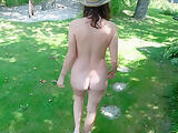 Naked & Pregnant In The Garden Part 4 - Nudist Garden Tour - Emilia Galotti