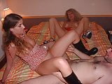 Submissive teen offerd by milf