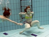 Hot underwater lesbos Ala and Lenka get horny